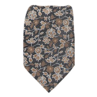 Brown Zipper Tie Regular Length Zipper Tie