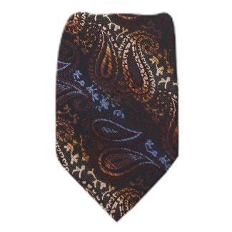 Chocolate Zipper Tie Regular Length Zipper Tie