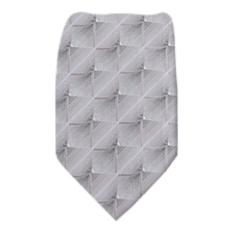 Silver Mens Zipper Tie Regular Length Zipper Tie