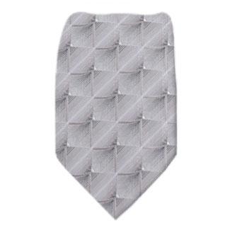 Silver Mens Zipper Tie Regular Length Zipper Tie