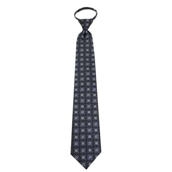 Black Mens Zipper Tie Regular Length Zipper Tie