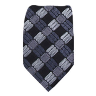 Black Mens Zipper Tie Regular Length Zipper Tie