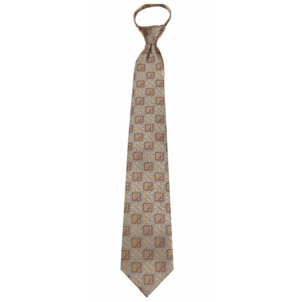 Gold Mens Zipper Tie Regular Length Zipper Tie