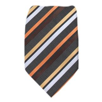 Charcoal Mens Zipper Tie Regular Length Zipper Tie