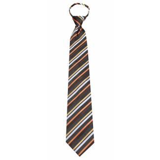 B-ZIP-ADF-18 Boys 14 inch Solid Color Zipper Necktie Ties