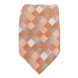 Orange Mens Zipper Tie Regular Length Zipper Tie