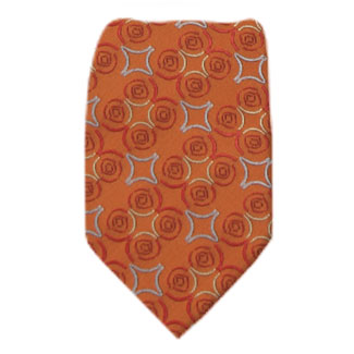 Orange Mens Zipper Tie Regular Length Zipper Tie