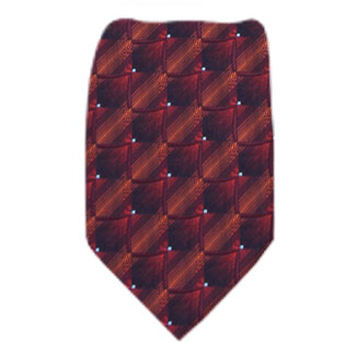 Burgundy Mens Zipper Tie Regular Length Zipper Tie