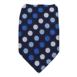 Navy Mens Zipper Tie Regular Length Zipper Tie