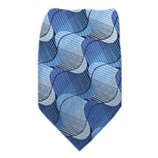 Blue Mens Zipper Tie Regular Length Zipper Tie