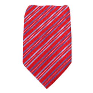 Red Mens Zipper Tie Regular Length Zipper Tie