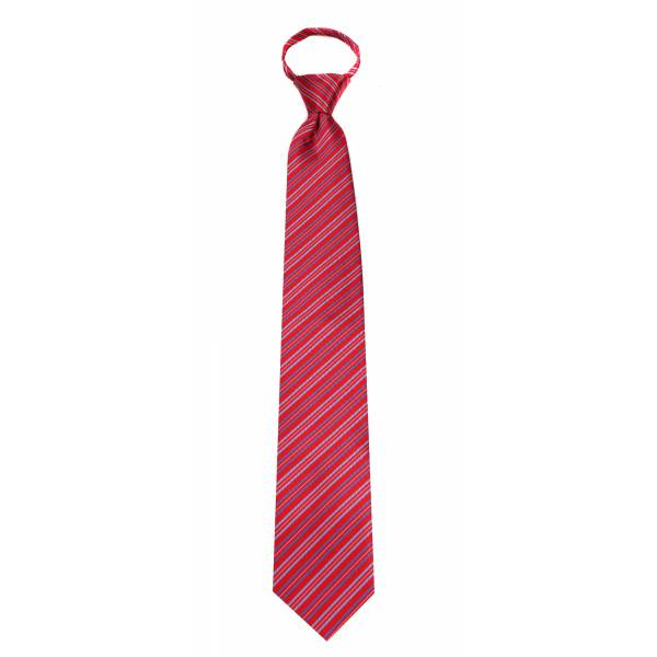 Red Mens Zipper Tie Regular Length Zipper Tie