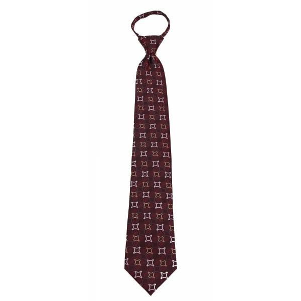 Burgundy Mens Zipper Tie Regular Length Zipper Tie