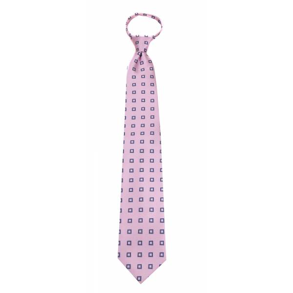 Pink Mens Zipper Tie Regular Length Zipper Tie