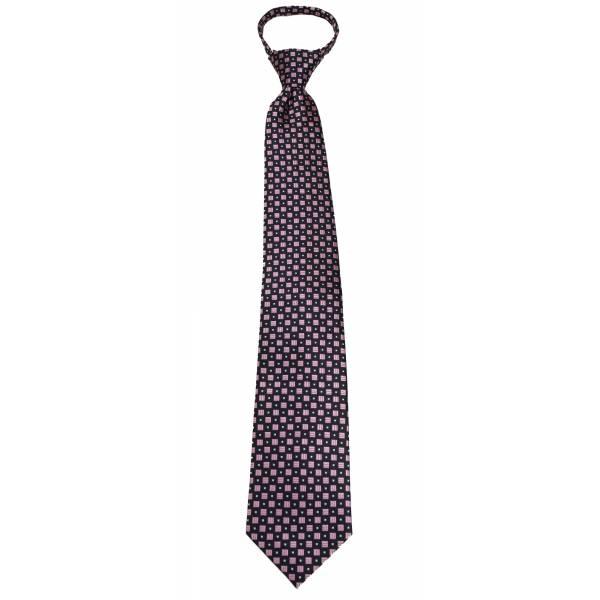 Pink Mens Zipper Tie Regular Length Zipper Tie