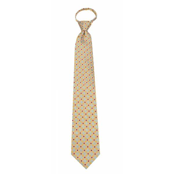 Yellow Mens Zipper Tie Regular Length Zipper Tie