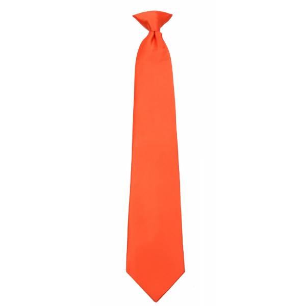 Boys Orange Clip on Tie Clip On Ties