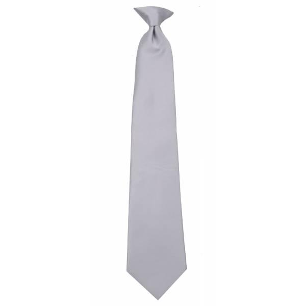 Boys Silver Clip on Tie Clip On Ties