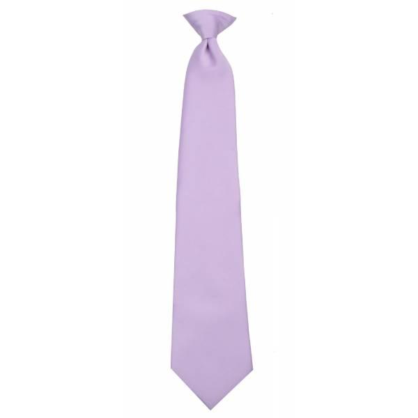 Boys Lilac Clip on Tie Clip On Ties