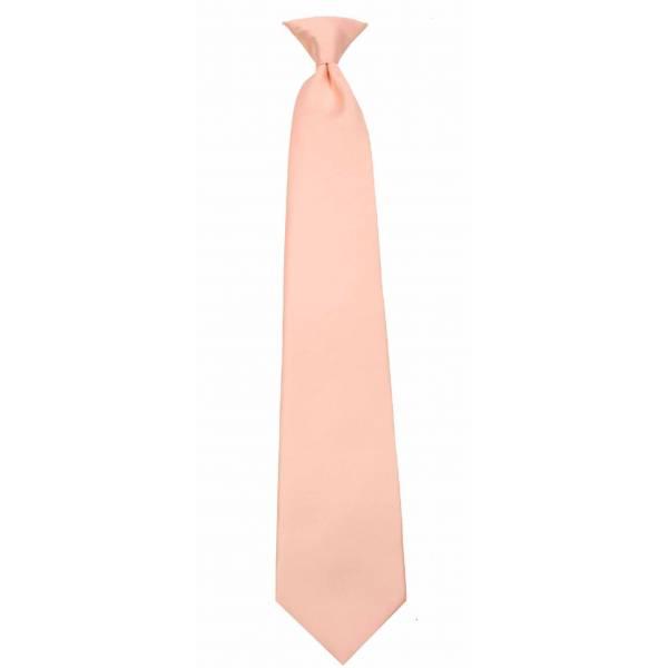 Boys Peach Clip on Tie Clip On Ties