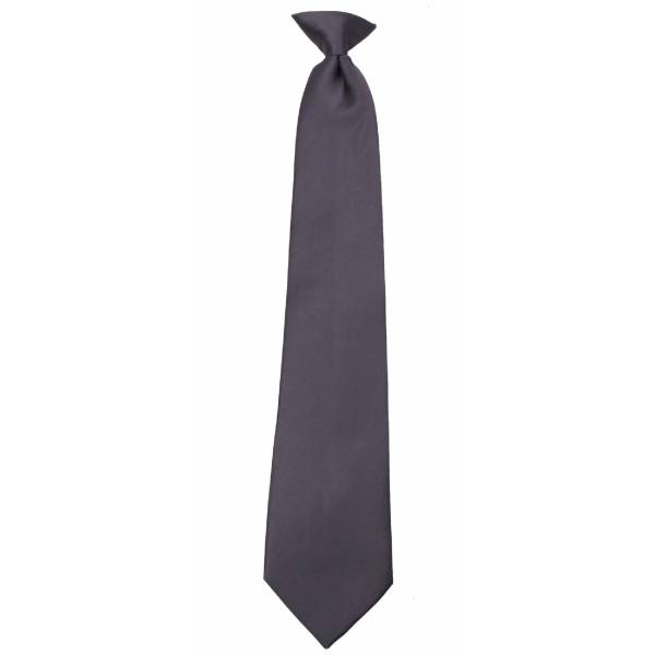 Boys Charcoal Clip on Tie Clip On Ties