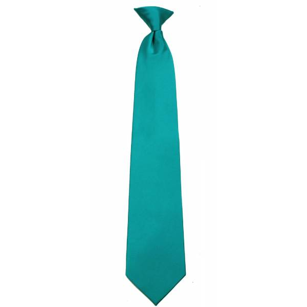 Boys Teal Clip on Tie Clip On Ties