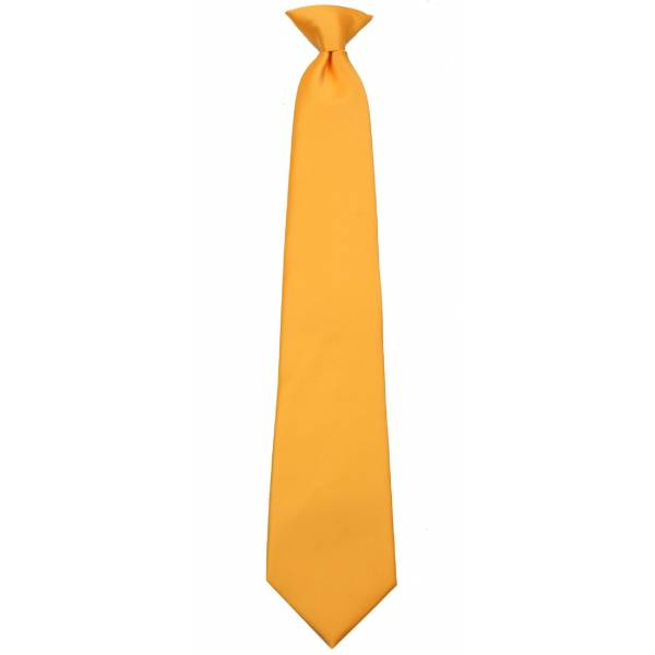 Boys Canary Yellow Clip on Tie Clip On Ties