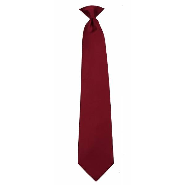 Boys Burgundy Clip on Tie Clip On Ties