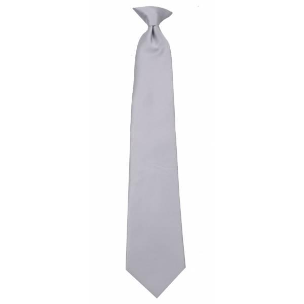 Silver Clip on Tie Clip On Ties