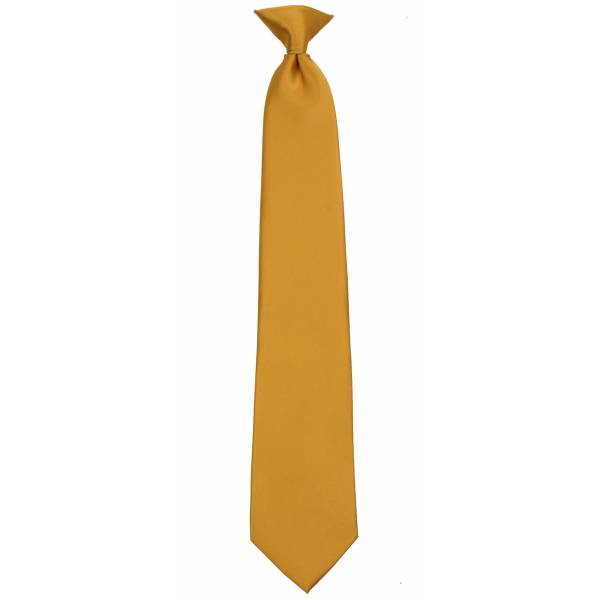 Gold Clip on Tie Mens Clip On Ties