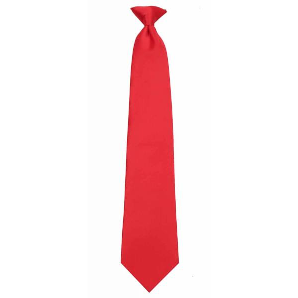 Red Clip on Tie Clip On Ties
