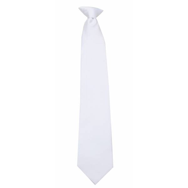 White XL Clip on Tie Clip On Ties