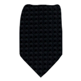 Black Solid Zipper Tie Regular Length Zipper Tie