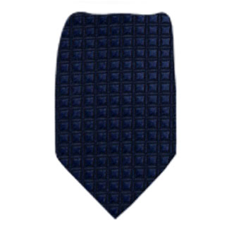 Navy Solid Zipper Tie Regular Length Zipper Tie