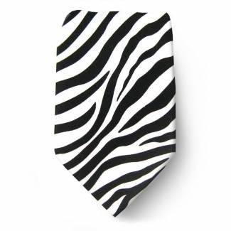 Boys Zebra Tie Ties