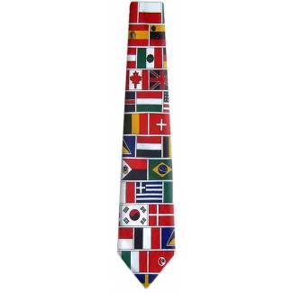 World Flags Tie Flag Ties