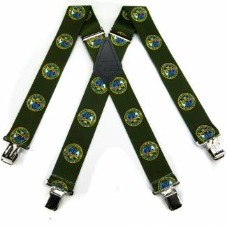 Army Suspenders 2.00 inch Made in U.S.A