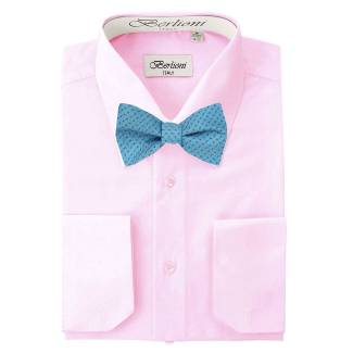 Mens Shirt Pink Mens Shirt & Bow Tie
